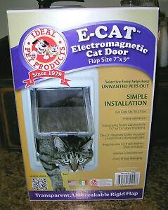 "Ideal Pet Products E-Cat Electromagnetic Cat Door Medium White Flap Size 7"" x 9"""