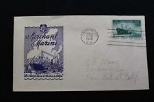 PATRIOTIC COVER 1946 1ST DAY ISSUE HONORING THE U.S. MERCHANT MARINE IOOR (3940)