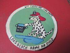 WWII  DISNEY FIRE DOG LONG BEACH ARMY AIR FIELD FIRE DEPT  JACKET PATCH