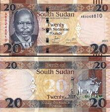 SUD-SUDAN South-Sudan - 20 pounds 2015 FDS - UNC