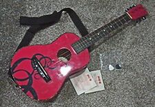 First Act Discovery child's pink wooden acoustic Guitar Complete