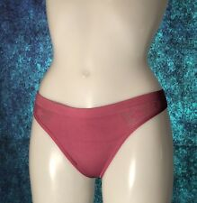Victoria's Secret Thong Panties /Pants/ Knickers BNWT, Size S , Red Violet
