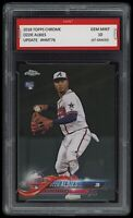 2018 Ozzie Albies Topps Update Chrome Rookie 1st Graded 10 Atlanta Braves Card