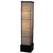 "51"" Bronze Outdoor Floor Lamp, Surrounded By Artfully Woven Outer Mesh Of Wire"