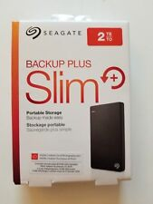 Seagate Backup Plus Slim 2TB USB 3.0 Black (STDR2000100) External Hard Drive