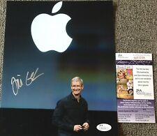 TIM COOK SIGNED AUTOGRAPH EXTREMELY RARE APPLE 8x10 PHOTO STEVE JOBS JSA COA A