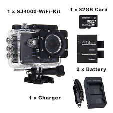 SJCAM SJ4000 WiFi 1080P Full HD Action Camera Sport DVR (Black) + 2 * Battery