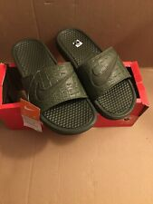 New Mens Nike Benassi Jdi Se C BV3611-300 Slides Slippers Green Size 8