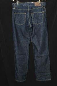 Amazing Lacoste 100% Cotton Dark Blue Denim Jeans Yellow Stitching W34 L34