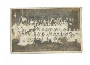RPPC - NEWTOWN, CT., HIGH SCHOOL PICNIC -MOUNTAIN LAKE - C. 1906