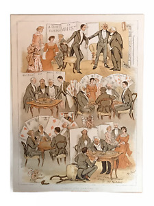 Facts and Fancies II - Genuine Antique Chromolithograph by Randolph Caldecott