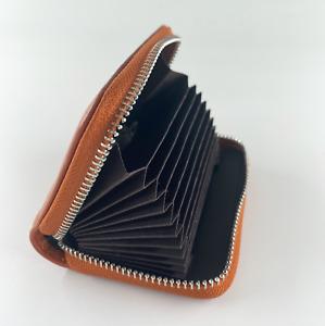 11 Slots Genuine Leather Business ID Credit Card Holder Case Pocket Bag Wallet