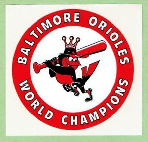 BALTIMORE ORIOLES ~ 1983 World Champions Decal ~ FREE SHIPPING