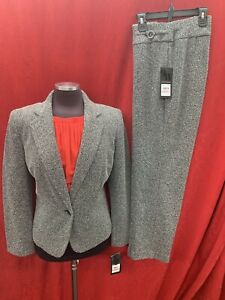 """NINE WEST PANT SUIT/NEW WITH TAG/RETAIL$280/INSEAM 31""""/TWEED/SIZE 12"""