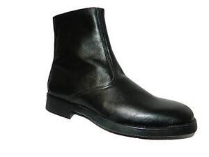 Bottes Homme Classiques Chaudes avec Doublure Élégant Confortable en Cuir Noir