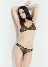 Agent Provocateur L'Agent Luxury IANA Gold Black Set 32B & Brief S BNWT RRP £93