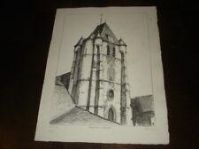 EGLISE DE NOUVION-ET-CATILLON - Lithographie Albert Lemasson - Thiérache