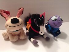 Disney Store Plush Bean Bag toys- MULAN- Cricket ,LITTLE BROTHER and KHAN