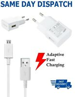 Samsung EU 2 Pin Adaptive Fast Charger with 1M Micro USB Data Cable