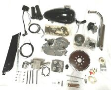 66 80cc Kit Assembly Bicycle Motorized 2-Stroke Gas Motor Engine 6mm NEW SILVER