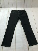 Levis Womens Mid Rise Stretch Slim Fit Skinny Denim Black Jeans Size W29xL27X8.5