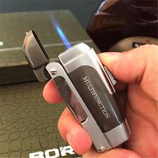 Outdoor Multifunctional Swiss Army knife bottle opener Windproof Butane Lighter