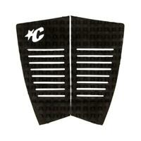 Fish Traction Tail Pad 2 Piece Surfboard Grip in Black from Creatures of Leisure