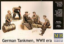 "1/35 Master box 35160  ""German Tankmen"" WWII  - 5 Figures Set Plastic Model Kit"