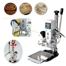 New Listing5x7cm Logo Press Marking Machine Hot Foil Stamping For Leather Pvc Bronzing 300w