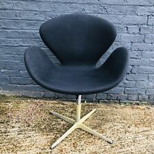 Vintage Black Swan Chair swivel Arne Jacobson Style Retro Design