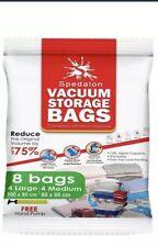 Vacuum Storage Bags - Pack of 8 (4 Large (100x80cm) + 4 Medium (80x60cm)) | New
