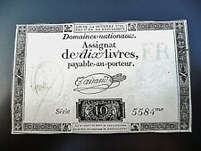 assignat de 10 LIVRES 1792  série 5584