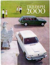 Triumph 2000 Mk1 1966-69 UK Market Sales Brochure Saloon Estate