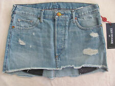 True Religion Cut-off Mini Skirt- Destroyed -TR Vintage- Size 26- NWT $179