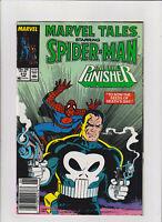 Marvel Tales #212 VF+ 8.5 Newsstand Spider-man, Mike Zeck Punisher Cover 1988