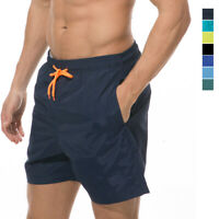 Mens Swim Trunks Bathing Suit Quick dry with Pockets Lining Summer Casual Shorts