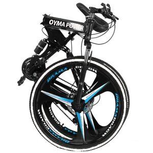 26in Folding Mountain Bike 21 Speed Bicycle Full Suspension MTB Bikes Non-slip