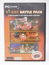 Worms Battle Pack: Worms 2, Armageddon, World party & Demo *Boxed & Complete*