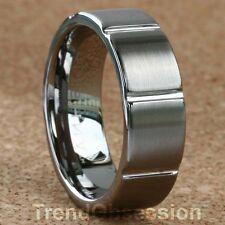Tungsten Carbide Ring Mens Wedding Band Size 9