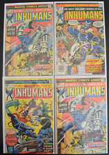 INHUMANS (4-Book) Marvel Comic LOT with #1, 2, 2, 9 (1975-1977) - Bronze Age
