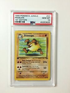 Primeape - PSA 10 1st Edition Jungle Set 43/64 - Gem Mint