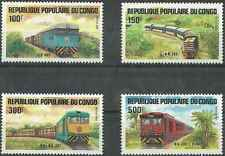 Timbres TRAINS Congo 726/9 ** lot 2339