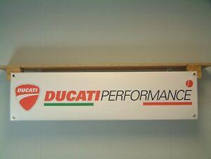 Ducati Performance Banner Motorcycle Workshop Garage Display sign