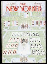 Jean Jacques Sempe carte à jouer royalty art nouveau Yorker Août 25 1980