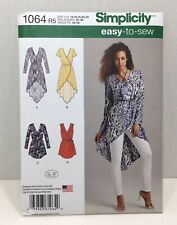 NEW Simplicity Easy To Sew Misses Tunic or Wrap Tie Dress Pattern 1064 Sz 6-14
