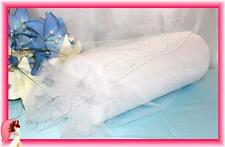WHITE 30cm x 92m Soft Wedding Tulle Roll - Bridal Fabric Chair Sash Pew Bow Swag