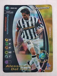 ALESSANDRO DEL PIERO SIGNED FOIL PROMO FOOTBALL CHAMPIONS 2001/02 JUVENTUS