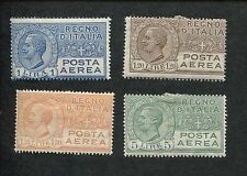 Set of 4 1926 Italy Air Mail Postage Stamps #C6-C9