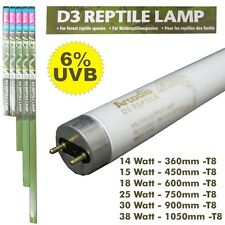 Arcadia D3 Reptile Lamp 6.0 - T8 Leuchtstoffröhre 14W bis 38W - 6% UVB / 30% UVA