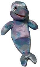 Build a Bear Blue Purple SEA SPLASH Dolphin Porpoise Puppet Plush Stuffed Fish